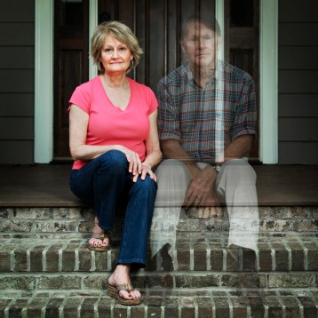 husband missing on front step