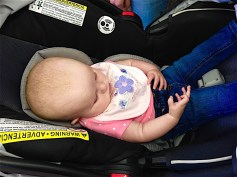For the first five minutes I was in this baby's mother's store, I was fascinated by the baby's stillness and her fascination with her own hands. That whole time she stared at her right hand as though she held an iPhone in it. I was beginning to wonder if she was autistic and went up to see if she'd respond to me.