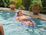 Agustin? Time to come out of the pool and eat again!!! Agustin???