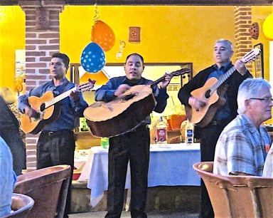 This local group are regularly called upon to play at Viva Mexico and other venues around San Juan Cosala