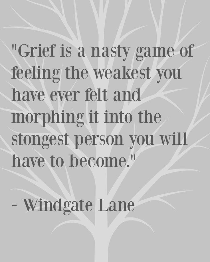 Grief does not end