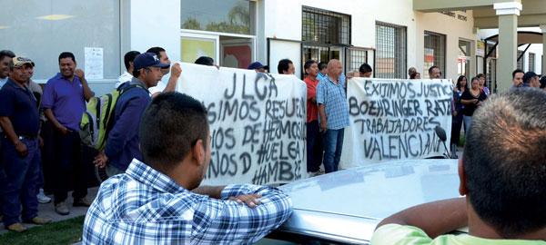 Huelga minera La Valencia