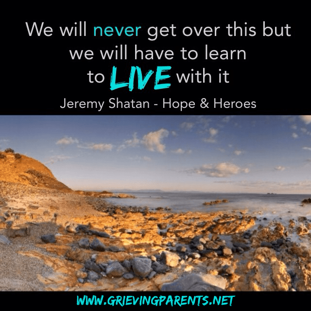 Grief Reflections - Discussions on Parental Bereavement by Nathalie Himmelrich and Carly Dudley - www.grievingparents.net {Grief Quote by Jeremy Shatan}