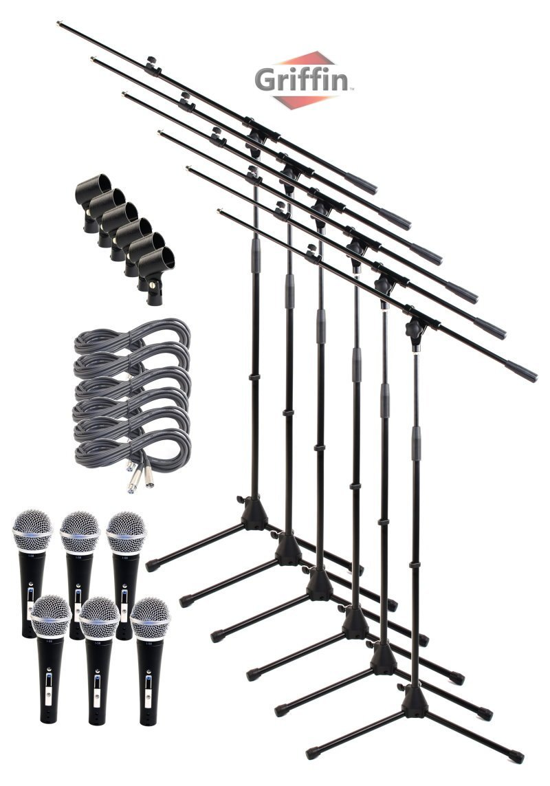 Microphone Boom Stand Package with Cardioid Vocal