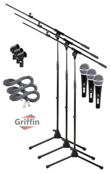 Telescoping Microphone Boom Stand (3 Pack) by Griffin