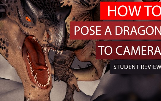 How to POSE A DRAGON to camera - Student WIP Review Animation