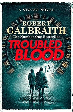 "Image of book jacket for ""Troubled Blood""."