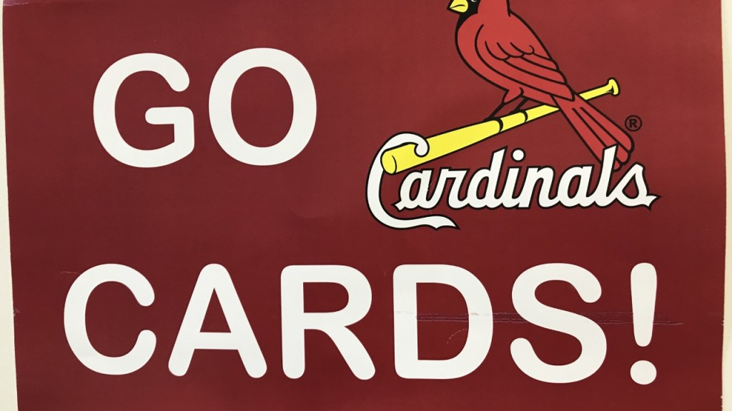 Photo of Melissa Eichhorn's Cardinals poster.