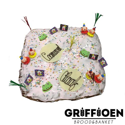 Griffioen Brood en Banket - Carnavals feest rozijnenbrood met spijs