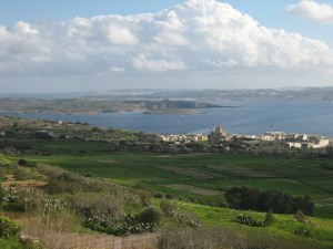 Gozo Channel looking south over Camino towards Malta
