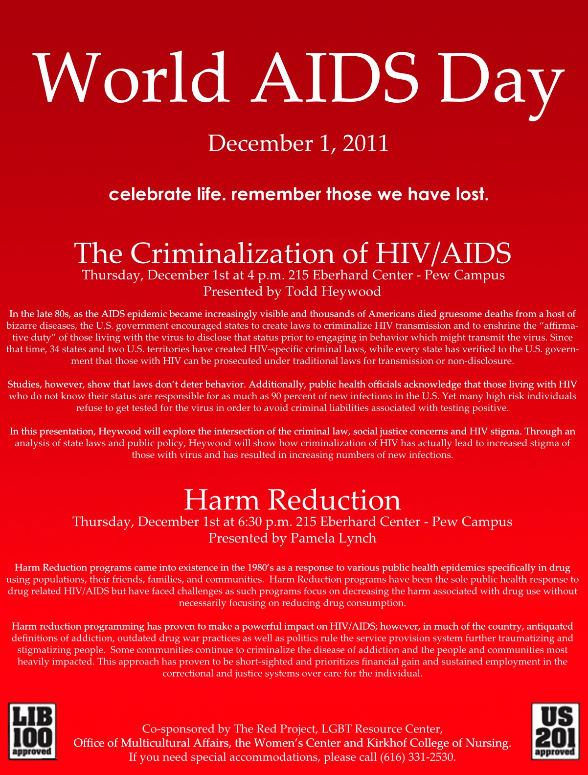 World Aids Day Event This Thursday In Grand Rapids