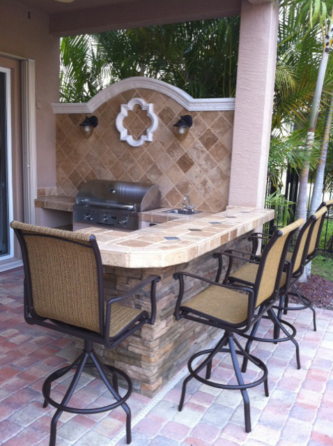 Firemagic Built In Bbq And Gas Fire Pit Custom Built With Blue New Custom Outdoor Kitchen Design Images And Fire Pit