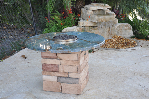 Firemagic Built In Bbq And Gas Fire Pit Custom Built With Blue Firemagic Built In Bbq And Gas Fire Pit Custom Built With