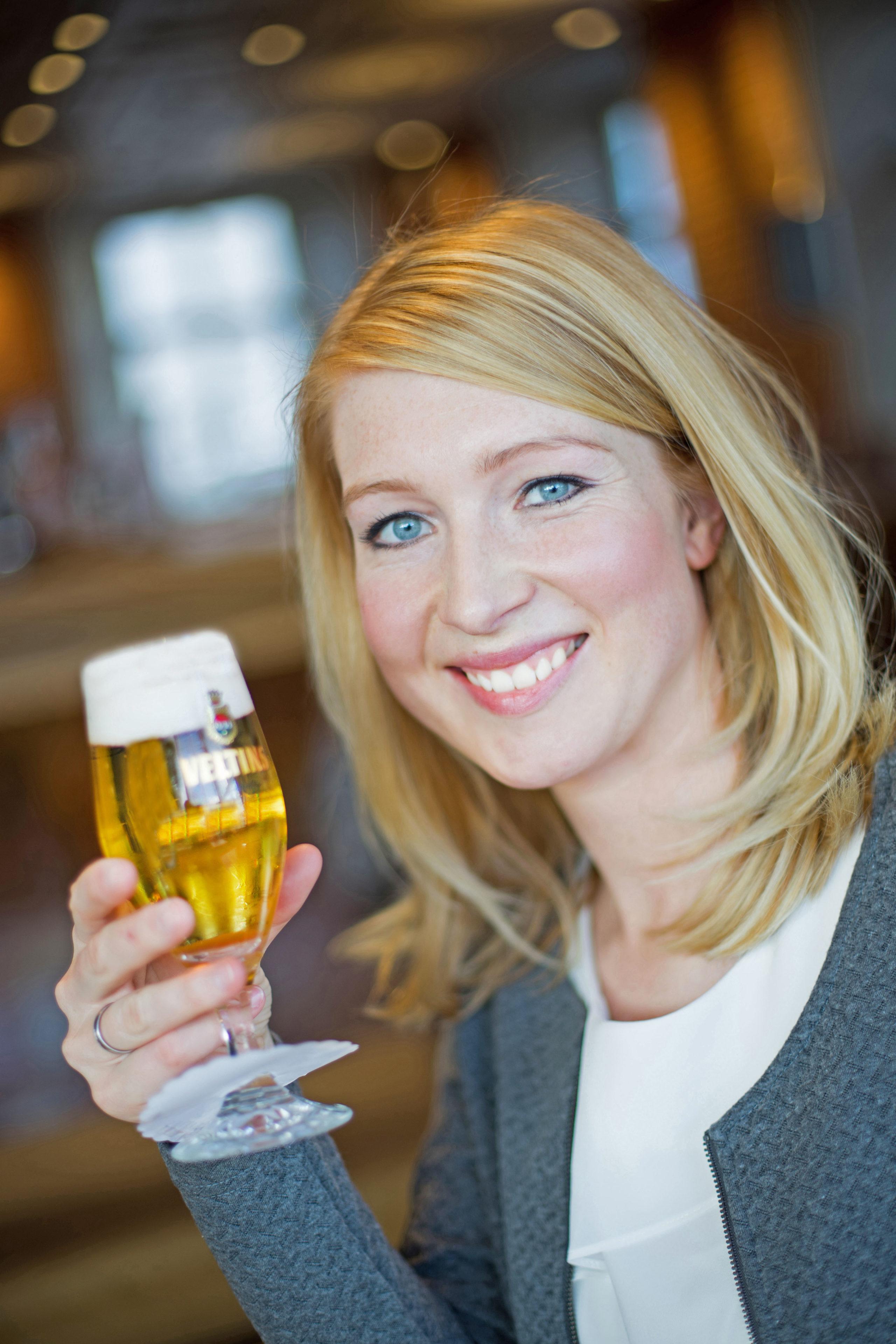 Julia Klose, Biersommelière bei der Brauerei C. & A. Veltins.