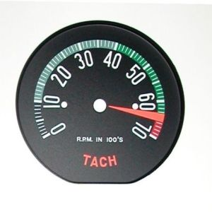 Corvette Tach Face 1960 High RPM