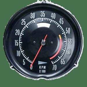 72-74 corvette tachometer 5300 redline