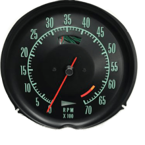 Corvette hi rpm Tachometer