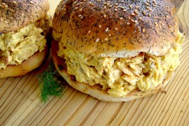 Pulled Salmon Sandwich