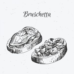 Post Bruschetta Disegno