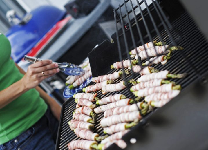 Grilled Bacon Wrapped Asparagus - pic taken from a previous Women's Grilling Clinic.