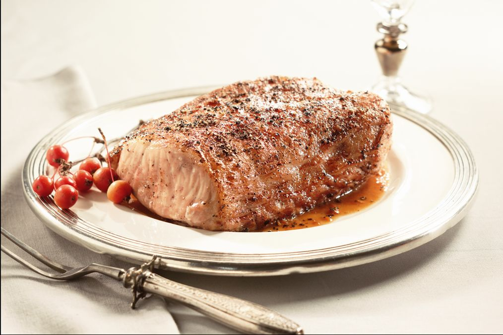 """Kurabuta Pork is from the """"Berkshire"""" Breed of pork and is extremely tender and flavorful. It melts in your mouth!"""