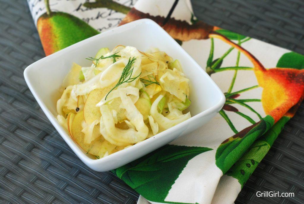 apple fennel slaw, fennel apple slaw, no mayo slaw recipe