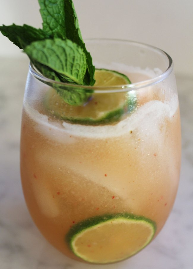 Summer Cocktail: Strawberry & Honeydew Mojito | Photo & Recipe by Michelle Lara