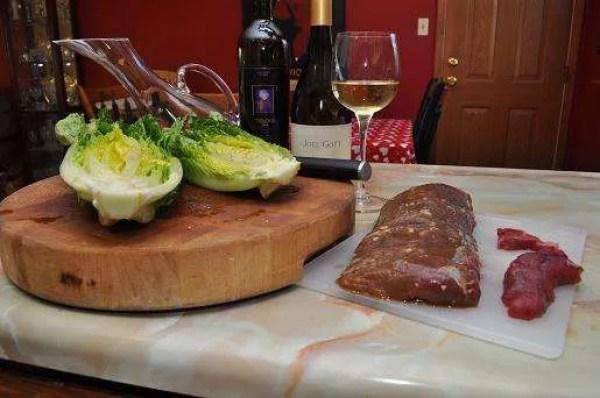 Elk Steak Marinated In Bourbon Grillinfools