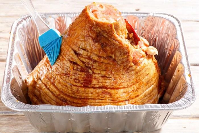 Grill Glazed Spiral Ham