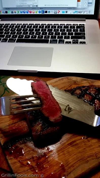 Grilling a Frozen Steak - 4