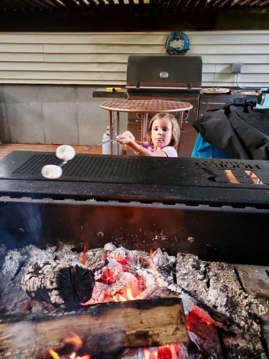 My daughter roasting marshmallows