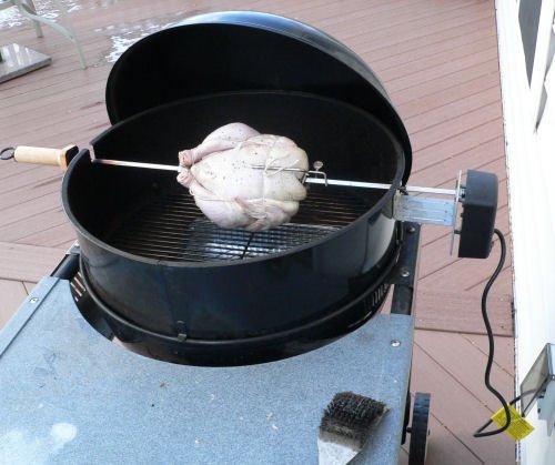Rotisserie chicken recipe for the grill