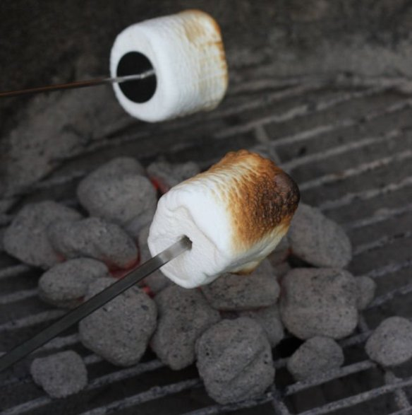 Smores on the charcoal grill