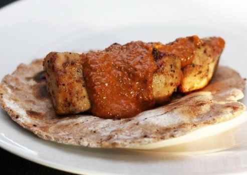 Grilled Turkish Chicken with Grilled Chapati