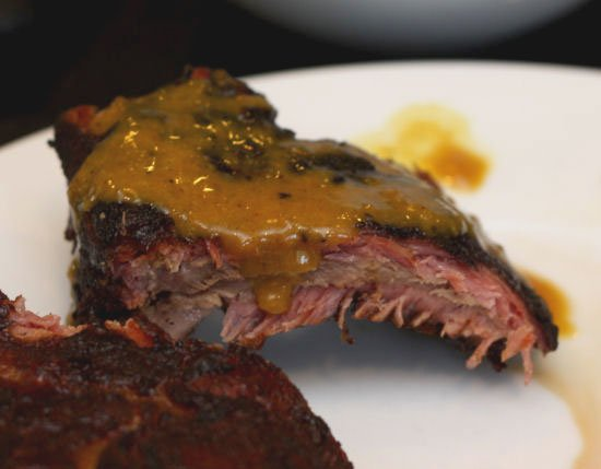 Baby Back Ribs with a Mustard BBQ Sauce
