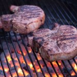 Grilled Pork Chops with Alton Brown's Pork Chop Brine