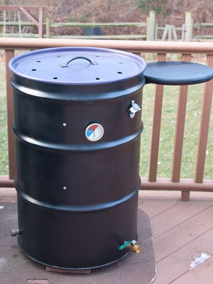 how to design and build an ugly drum smoker. Black Bedroom Furniture Sets. Home Design Ideas