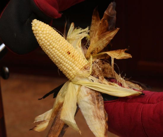 How to grill corn in the husk - charcoal grill