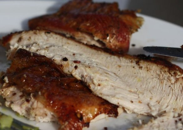 Grilled Butter Injected Turkey