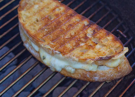 Grilled Grilled Cheese on a Grill