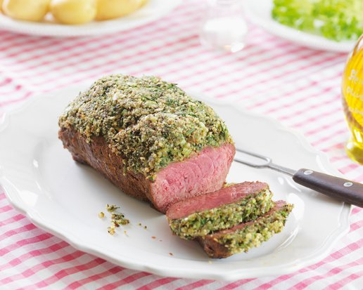 ALMOND-CRUSTED DOUBLE ENTRECOTE