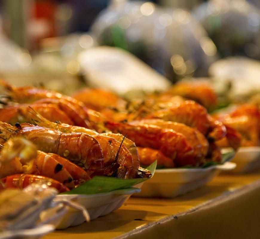BBQ Catering Buffet garnalen