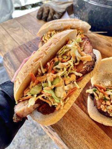 Pork Belly Sandwich with a Jalapeño Slaw