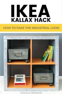 IKEA KALLAX Hack - Industrial Storage For A Boys Bedroom ...