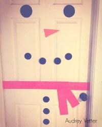 Door Snowman Diy & Snowman Door Decoration Using Styrofoam