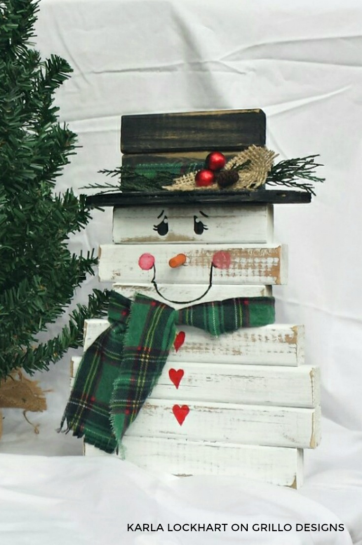 How To Make A Wooden Snowman From Spindles Grillo Designs