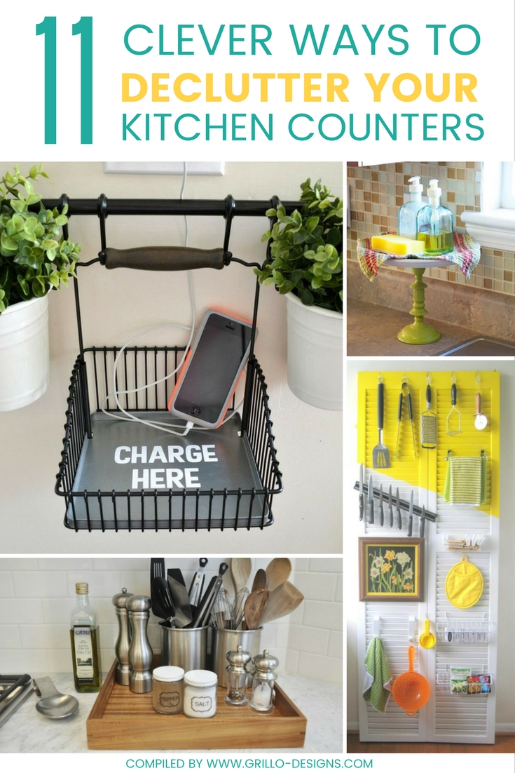 kitchen counter ikea 11 clever ways to declutter counters grillo designs