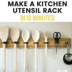 Kitchen Utensil Rack Bench Cushions Make A Diy Hanging In 10 Mins Grillo Designs Create Using Plumbing Clips Www