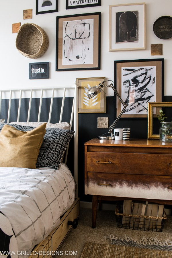 Modern Vintage Small Bedroom Makeover Grillo Design