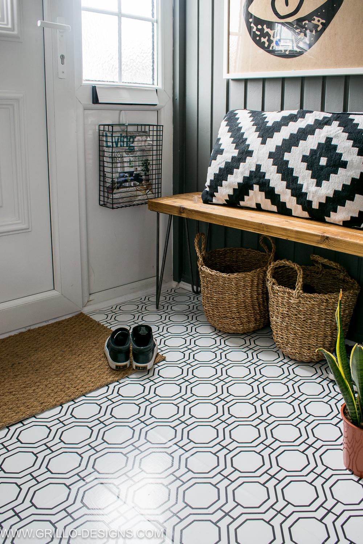 how to wallpaper a floor a renter